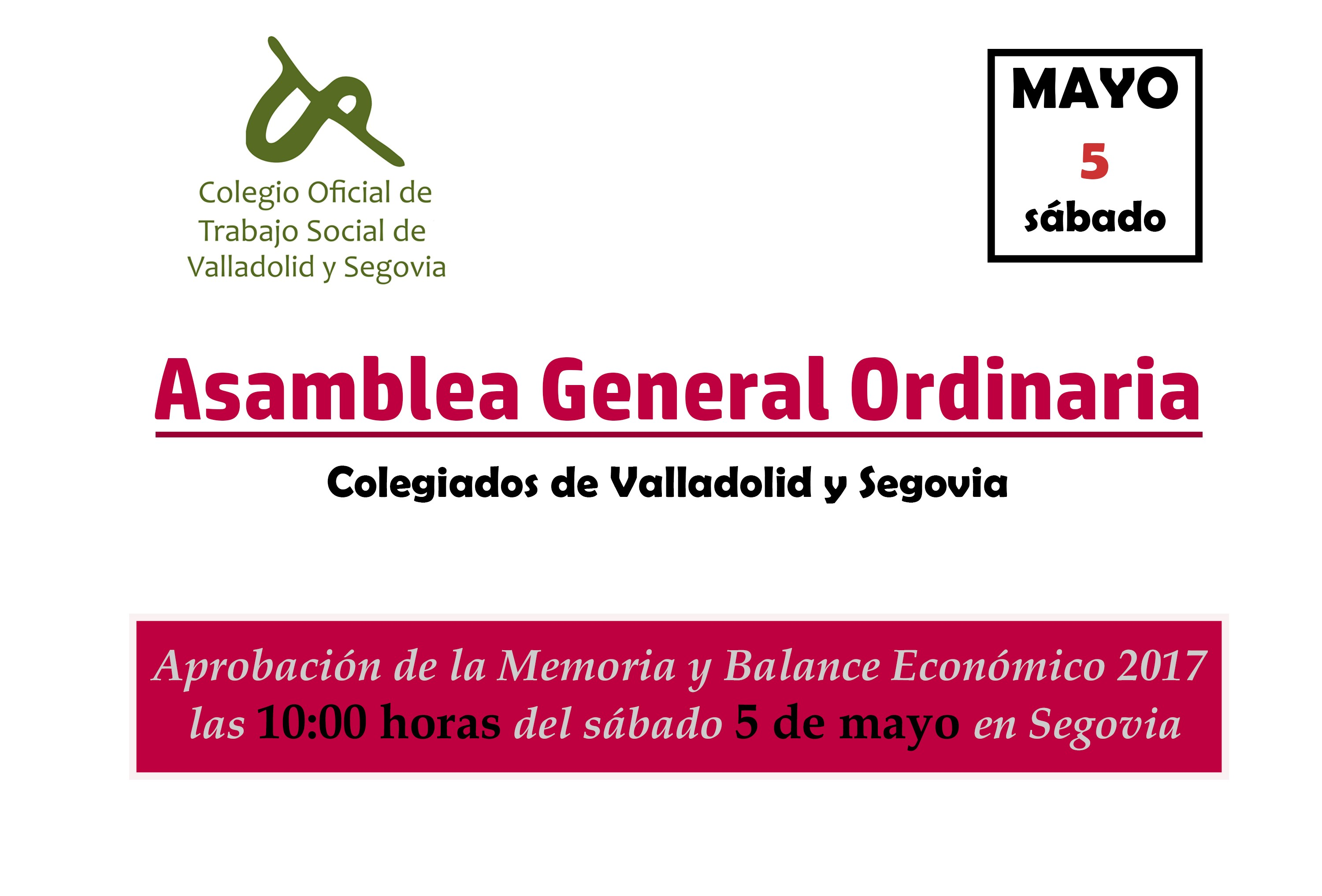 Asamblea General Ordinaria Segovia